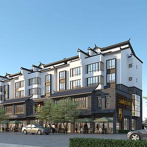 新中式商住樓模型