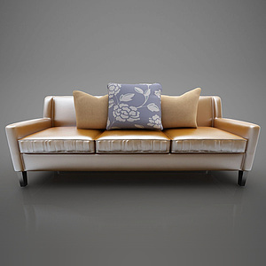 現代休閑沙發模型
