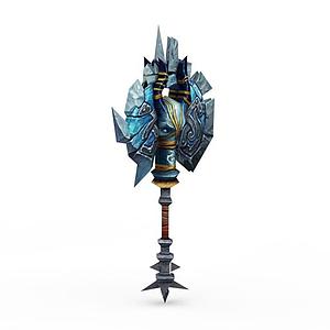 古代兵器戰斧模型