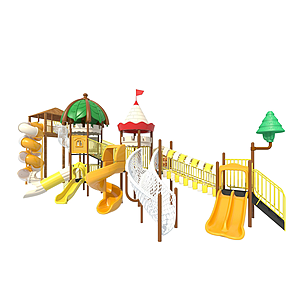 戶外大型滑梯兒童游樂設施模型