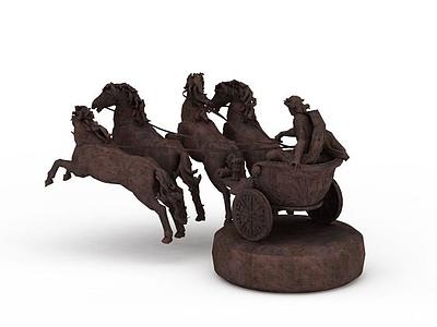 3d創意馬車雕塑免費模型