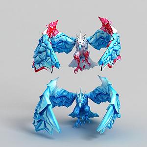 3d冰晶鳳凰模型