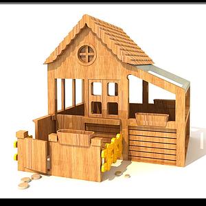 木質玩具模型