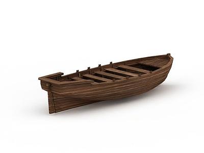 3d小木船模型