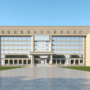 3d現代辦公樓模型