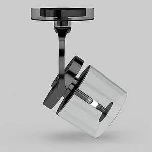 高檔玻璃燈罩射燈模型