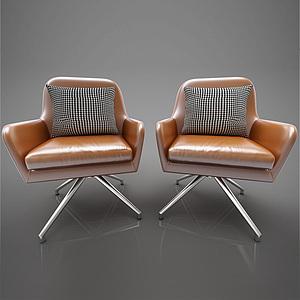 現代風格休閑椅模型