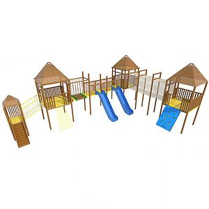木滑梯模型