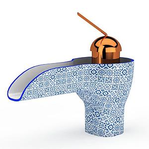 現代創意精美水龍頭模型