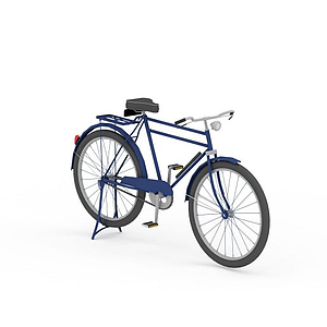 老式28自行車模型