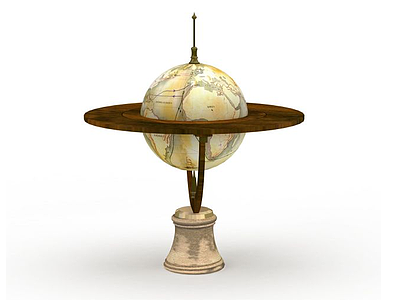 3d精美<font class='myIsRed'>地球</font>儀裝飾品免費模型