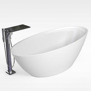 休閑浴缸模型
