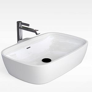 現代浴缸模型