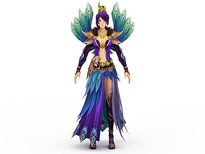 3d游戲女主角免費模型