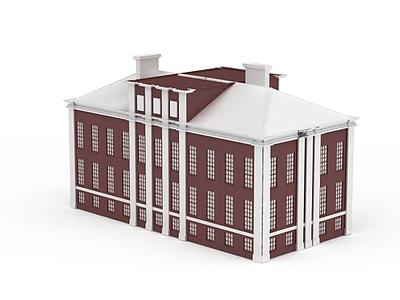3d紅<font class='myIsRed'>房子</font>免費模型