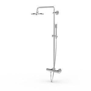 現代淋浴設備模型