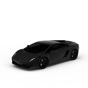 3d黑色炫酷<font class='myIsRed'>跑車</font>模型