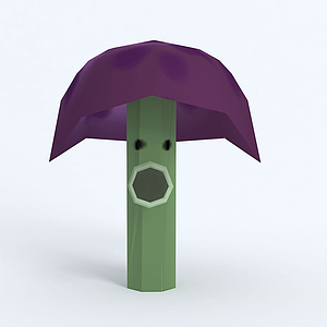 Scaredy-shroom膽小蘑菇模型