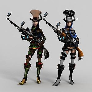 3d皮城女警·凱特琳模型