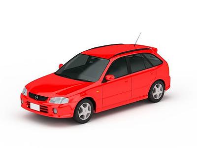 3d<font class='myIsRed'>紅色</font>小汽車免費模型