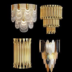 現代輕奢壁燈模型