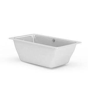 方形瓷面浴缸模型