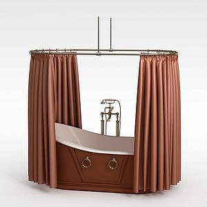 豪華浴缸模型
