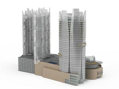 3d建筑大廈模型