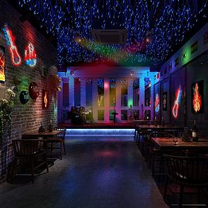 現代工業風酒吧模型