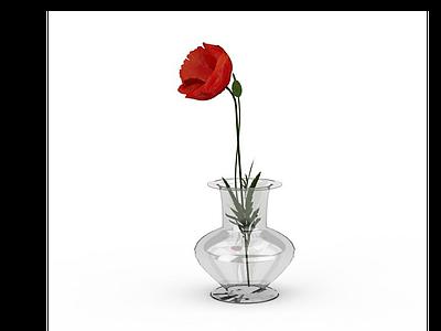 3d<font class='myIsRed'>紅色</font>花朵模型