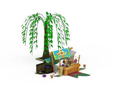 3d戶外游戲場景免費模型