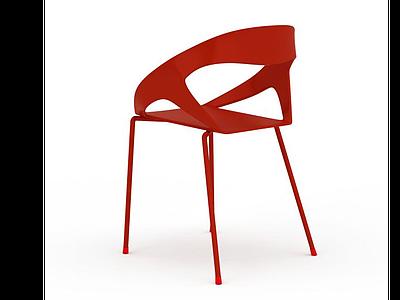 3d<font class='myIsRed'>紅色</font>餐椅模型