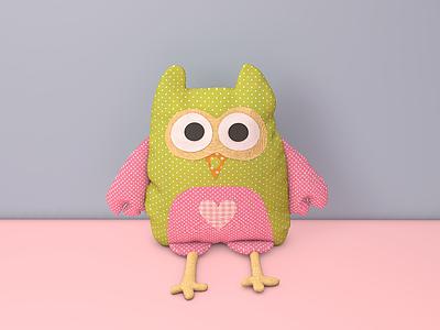 小雞抱枕模型
