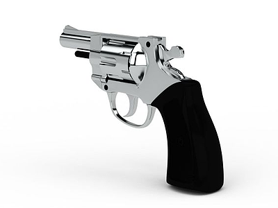 銀色手槍模型