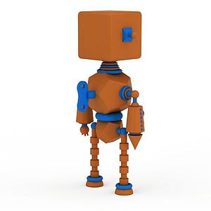 3d兒童<font class='myIsRed'>機器人</font>玩具模型