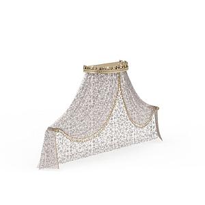 公主臥室蚊帳模型