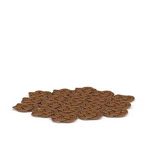 編織杯墊模型