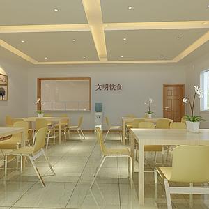 食堂餐廳模型