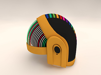 電動車摩托車炫彩頭盔模型