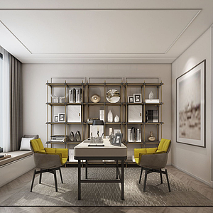現代,風格茶室模型