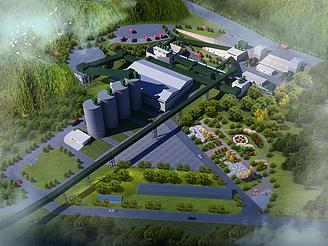 水泥廠模型