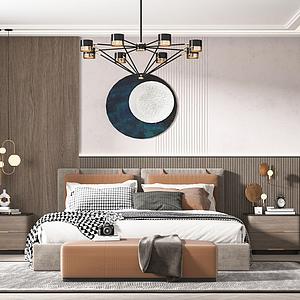現代臥室模型