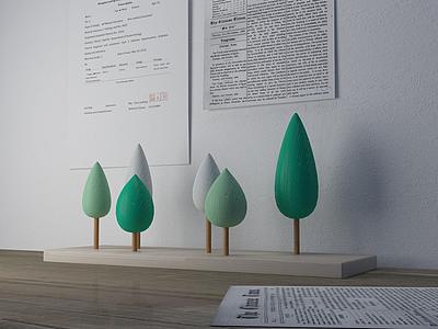 小森林擺件模型3d模型