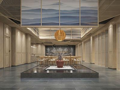 新中式,風格餐廳3d模型