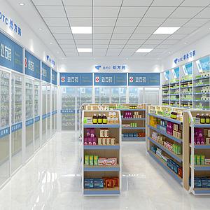 現代藥房藥店模型
