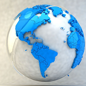 卡通創意地球模型
