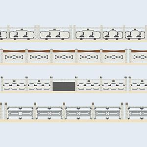 石材橋欄桿模型