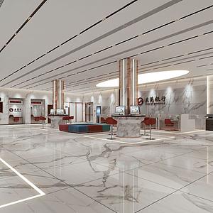 銀行大廳模型