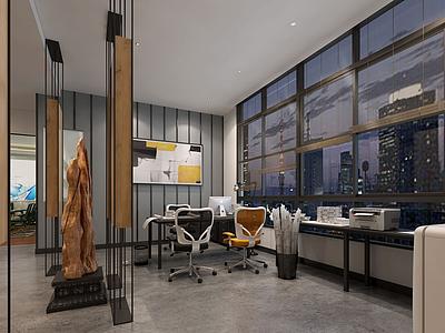 鎮辦公室模型3d模型
