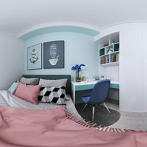 女生臥室模型